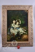 Original Oil on Canvas Painting of Two Children
