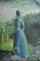 Oil on Canvas Framed Art of Woman in a Field of Flowers