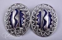(3) Pair Black and White Design Earrings