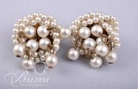 (2) Pair Pearl Earrings and Handcrafted White Earrings
