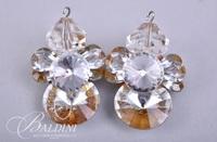 (3) Pair Earrings with Peals, Rhinestones and Seashells