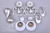 (4) Pair Vintage White Earrings