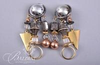 (6) Pair Assorted Style Non Pierced Earrings - Beaded - Mother of Pearl - Drop Pearl and Others