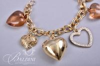Bracelet with Heart Shape Charms in Box