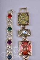 (6) Bracelets - 2 Stretch, 2 Hinged Cuff, and 2 with Multi-Color Stones