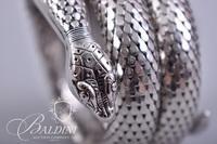 Vintage Cobra Wrap Bracelet Stamped Whiting and Davis and Silver Tone Stretch Bracelet