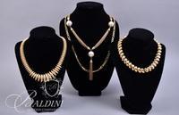 (4) Gold Tone Costume Necklaces