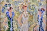 """Streater Spencer """"Three Divas"""" Giclee on Canvas with COA and Original Receipt"""