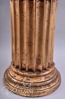Gold Painted Column Pedestal