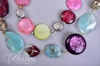 (2) Glass Bead Necklaces
