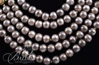 (2) Multi Strand Pearl Necklaces - Grey Strand and Gold and Earthtone Strand