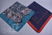 (4) Scarves - Paisley, Green, Blue with Orange Flowers and Navy with Red Border