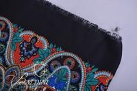 Pashmina with Red, Blue and Black Made in Italy