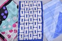 (9) Assorted Scarves - White Silk, American Flag Design and More
