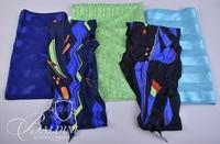 (5) Scarves with Blues, Greens and Purples