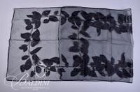 (3) Scarves - Sheer Black, Velvet Black and Earth Tone Color Block