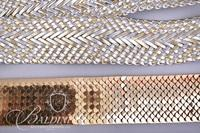 (4) Vintage Belts - Gold Stretch, Navy Stretch, Black/Gold Stretch and Silver Buckle Belt