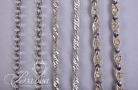 (4) Silver Strand Necklaces - One with Pink Stone