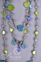 (3) Necklaces with Multi Color Stones and Beading
