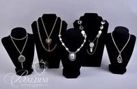 (5) Costume Necklaces With Pendants and Woldman Watch Pendant