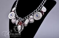 Custom Made Necklace with Hearts and Charms with Matching Bracelet Purchased at McClures