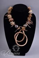 Copper Necklace with Shell Accents