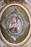 Pair Bisque Porcelain Wall Hangings