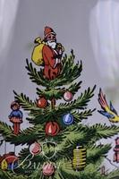 Christmas Pitcher with Santa at the Top of the Tree