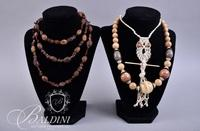 Necklaces With Wood Beads, Crochet Owl, Earrings
