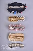 Assorted Brooches and Barretts and Button Covers