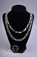 (7) Necklaces with Silver Links, Pendants and Decorative Accents