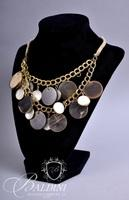 (4) Costume Necklaces with Round Cut Shells, Bone and Beading
