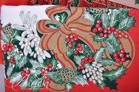 Holiday Linens With Red Cardinals - (5) Tablecloths, (6) Placemats and (8) Cloth Napkins