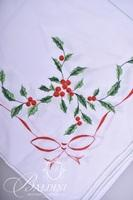 Vintage Holiday Tablecloth and (14) Napkins