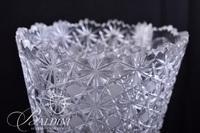 Large Brilliant Cut Russian Crystal Vase