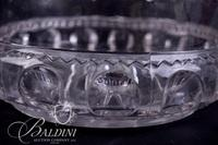 Kings Crown Large Bowl with Scalloped Edge and Crystal Gravy Boat with Ladle