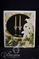 (3) Pair Crystal Candlesticks
