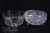 Three Footed Crystal Bowl and Duralex Leaded Crystal Bowl