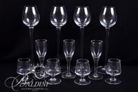 (4) Long Stemmed Cordials, (8) Small Cordials and (8) Salt Cellars
