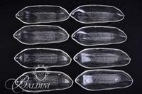 (2) Crystal Divided Trays and (8) Corn on the Cob Dishes