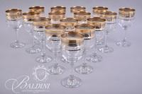 (16) Gold Rimmed Wine Glasses