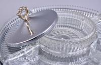 Silver Plate Lazy Susan Snack Set