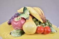 Capodimonte Fruit Topped Soup Tureen with Ladle and Tray