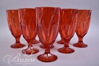 (8) Red Crystal Goblets