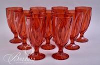 (9) Red Crystal Goblets