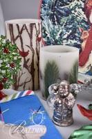 Holiday Decorations Including Trays, Stockings, and More