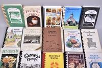 (21) Cookbooks Including The Amish Way, Come Into My Kitchen, Signed and What's Cookin' from Lewisburg, Tn