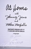 At Home with Johnny, June and Mother Maybelle, Signed and Dedicated to June Baldini and Inside the House of Cash, Signed