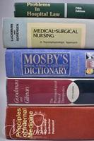 (5) Health Related Books Including Mosby's Dictionary and Principles of Internal Medicine