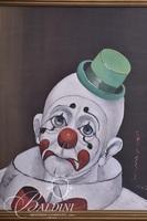 """Red Skelton """"Sad Clown"""" Face, Signed"""